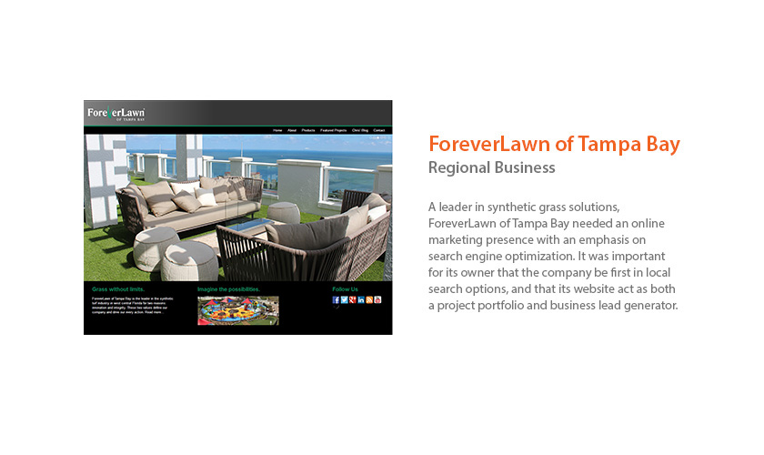 ForeverLawn of Tampa Bay Website by Mango Ibis